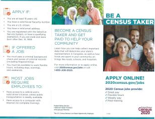 Brochure Back Census 2020
